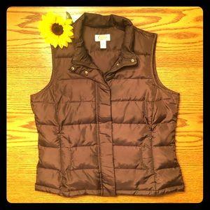 Talbots Petites Down Puffer Vest